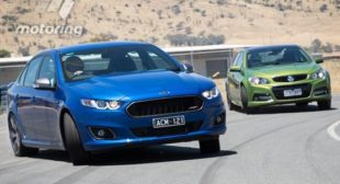 2013 FG Falcon XR6 Turbo V 2013 VF Commodore SS at the dragstrip
