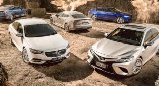Ford Mondeo v Holden Calais v Hyundai Sonata v Kia Stinger v Toyota Camry comparison review