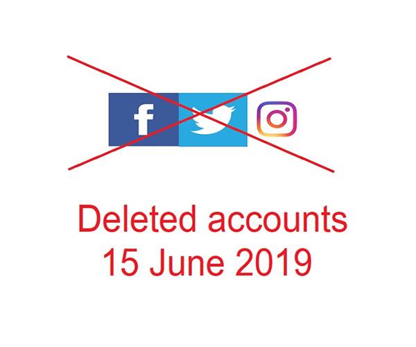 facebook instagram twitter deleted