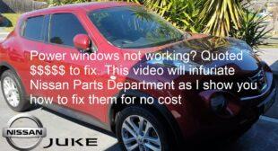 Nissan Juke Power Window fix